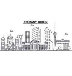 germany berlin architecture line skyline vector image