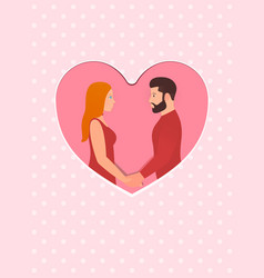 greeting card for happy valentines day february vector image