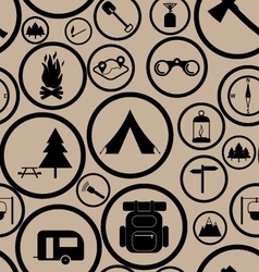Hiking seamless pattern vector