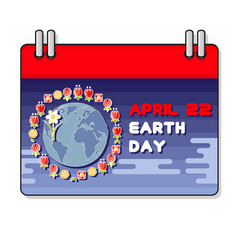 international earth day vector image