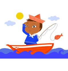 little sailor vector image vector image