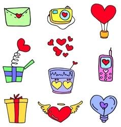 Love element doodles vector