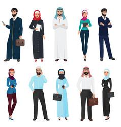 Muslim arabic business people arab office male vector