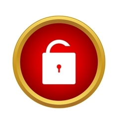 Open lock icon simple style vector image