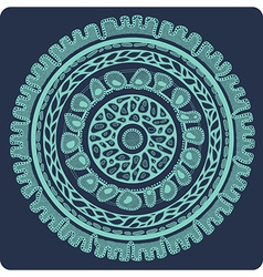 ornamental lace in circle 3 2 vector image vector image