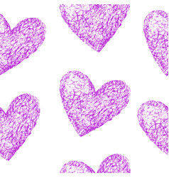 pink hearts seamless pattern vector image