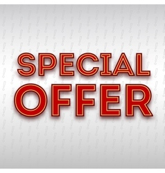 Poster with the text Special offer vector image vector image