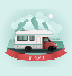 recreational vehicle poster vector image vector image
