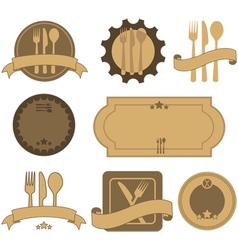 Retro restaurant badges vector