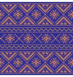 Set of Ethnic ornament pattern in different colors vector image vector image