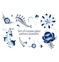 Set of russian gzhel elements vector image vector image