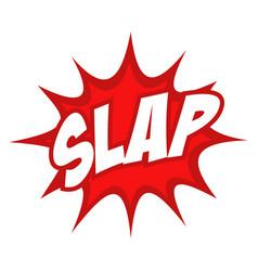 Slap text in comic splash icon vector