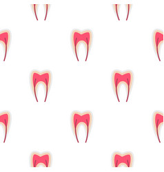 Tooth nerve pattern seamless vector