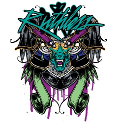 tshirt graphic tattoo vector image vector image