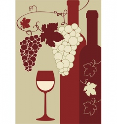 vine and wine vector image