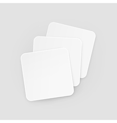 White Square Blank Beer Coasters Isolated vector image