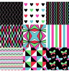 pop patterns set vector image