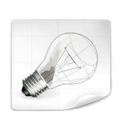 Lamp drawing vector