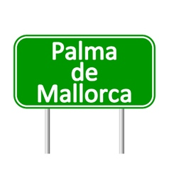 Palma de mallorca road sign vector