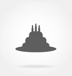 Cake icon vector