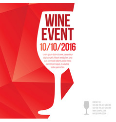 Design for wine event vector