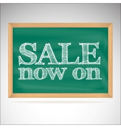 Sale now on - the inscription chalk vector