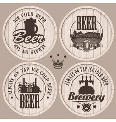 barrel beer vector image