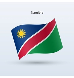 Namibia flag waving form vector