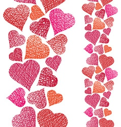 Hearts seamless pattern vertical composition love vector