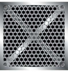 Metallic grid vector