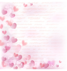Background with pink hearts vector
