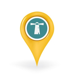 Lighthouse location vector