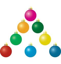 Christmas matte balls vector image