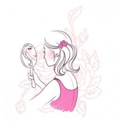 flower woman vector image