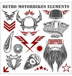Design elements on white background for vintage vector