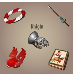 Knight set part of the vestments five items vector