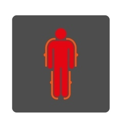 Exoskeleton rounded square button vector