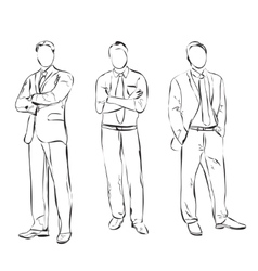 Business man sketch vector