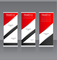 Roll up banners templates vector