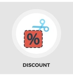 Coupon icon flat vector