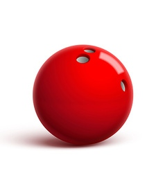 Red bowling ball isolated on white vector