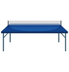Table and net for table tennis vector