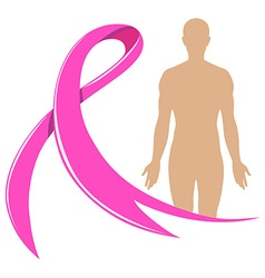 Human body and pink ribbon vector