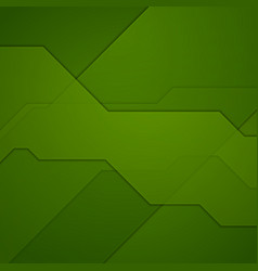 Abstract green tech geometric background vector