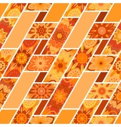 Abstract seamless patchwork pattern with vector