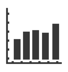 bar graph icon vector image