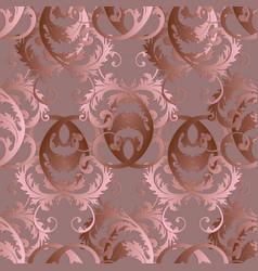 baroque seamless pattern floral vintage light vector image vector image