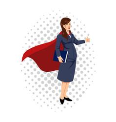 Cartoon of a super businesswoman vector