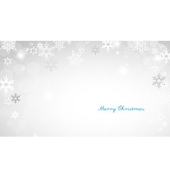 Christmas silver background with snowflakes and vector image vector image