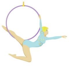 Circus gymnast vector